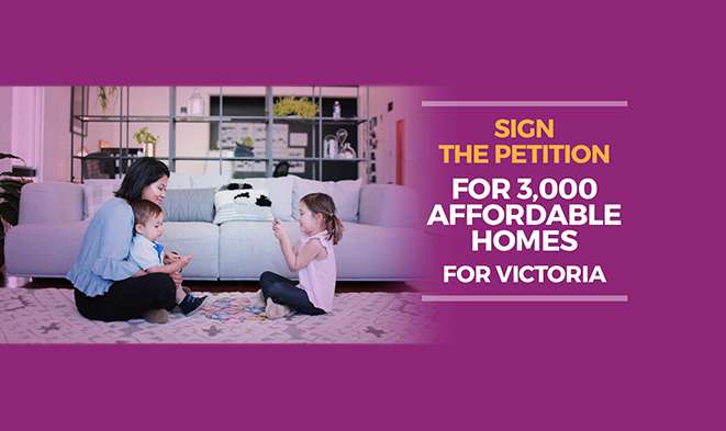 Sign the petition for 3,000 affordable homes for victoria